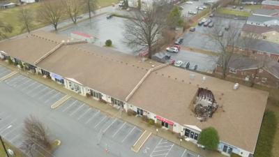 St. Matthews strip mall damage