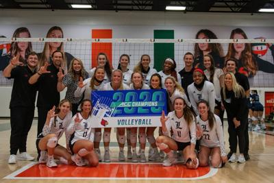 Louisville volleyball celebrates winning ACC championship