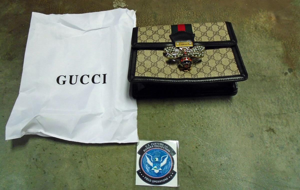 Counterfeit Gucci handbag seized at Louisville International Airport on Sept. 17, 2020
