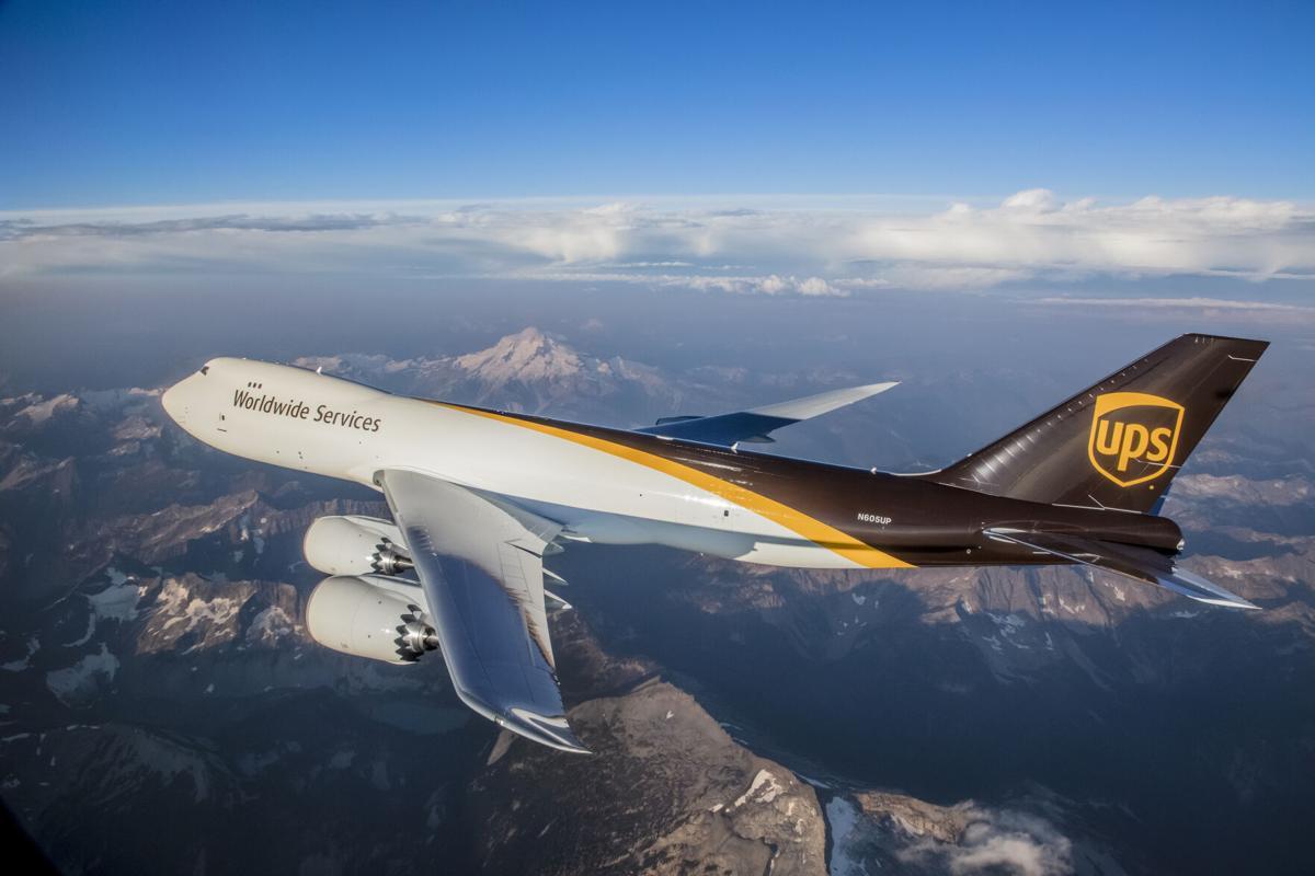 New UPS Jet in flight
