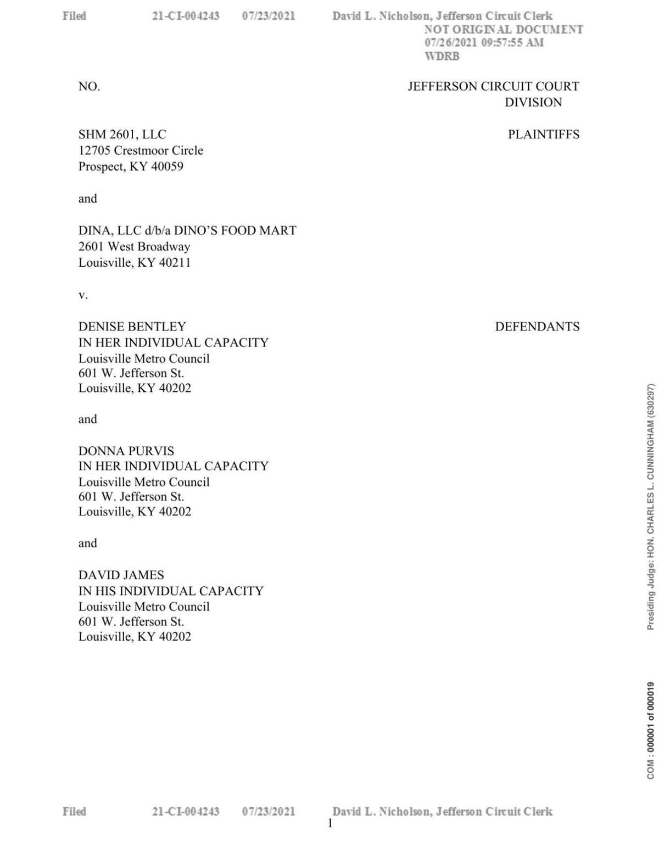 Dino's Slander Lawsuit