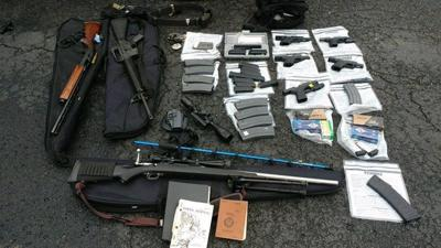 IMAGES | Police in Kentucky arrest man with stockpile of guns believed to be planning mass shooting