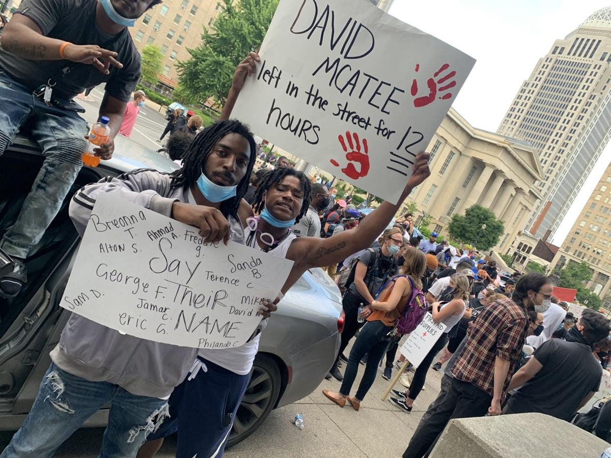 Protesters for David McAtte 6-1-20