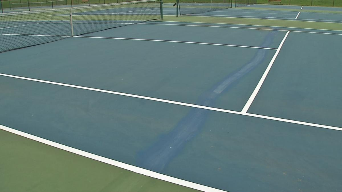 Chickasaw Park hard court after repairs