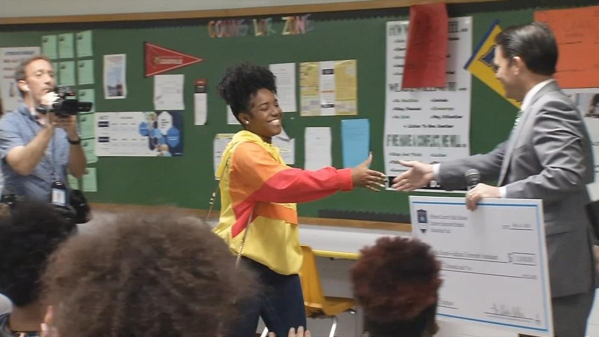 Pollio presents check to Asha Reaves