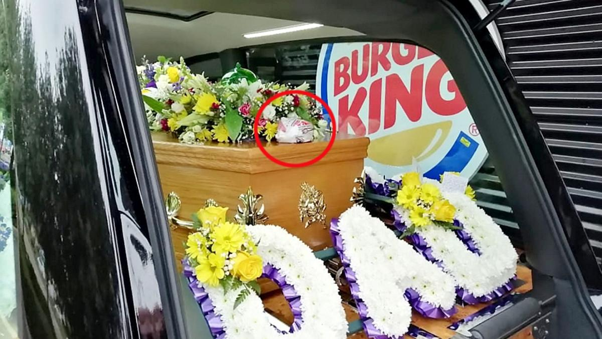 British Burger King lover hearse 6-11-19