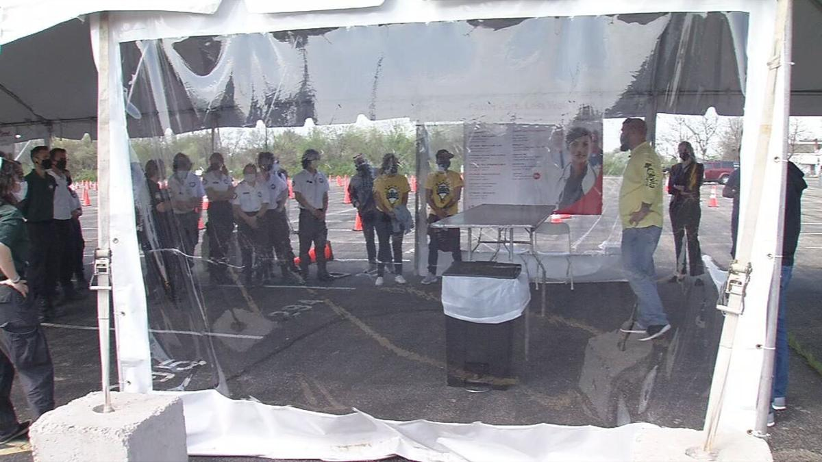 Volunteers Train at Cardinal Stadium