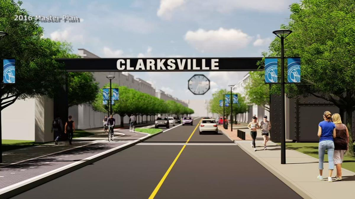 Clarksville Downtown Rendering - Entrance