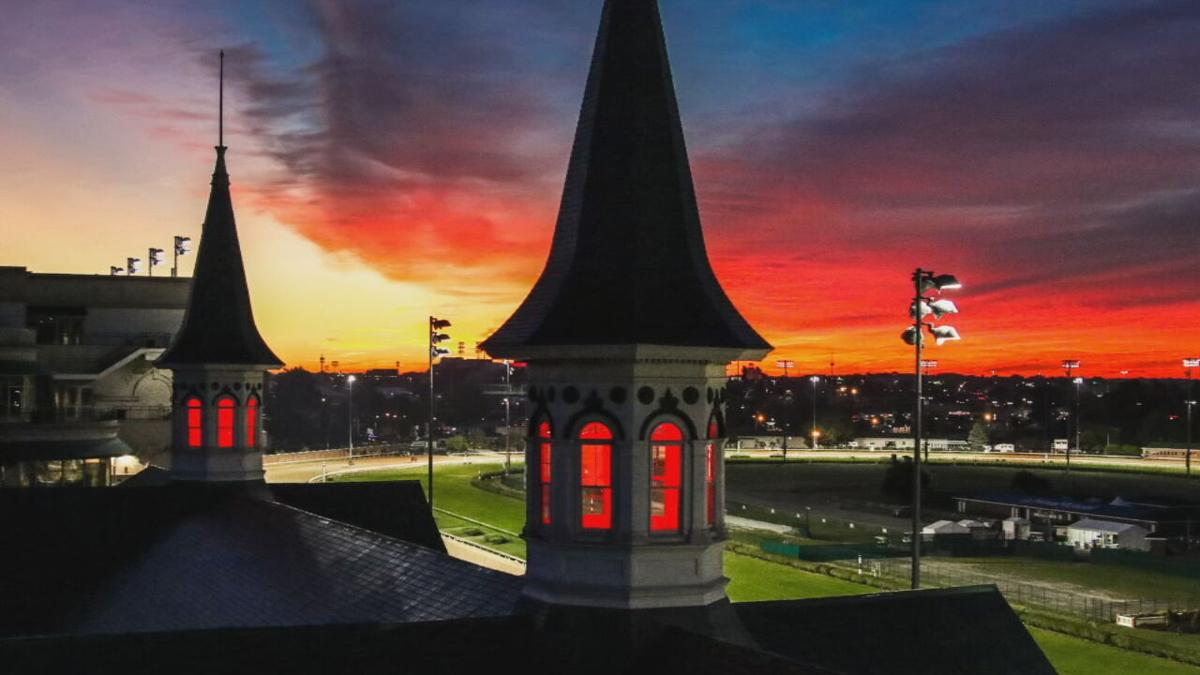 Sunrise over Twin Spires at Churchill Downs