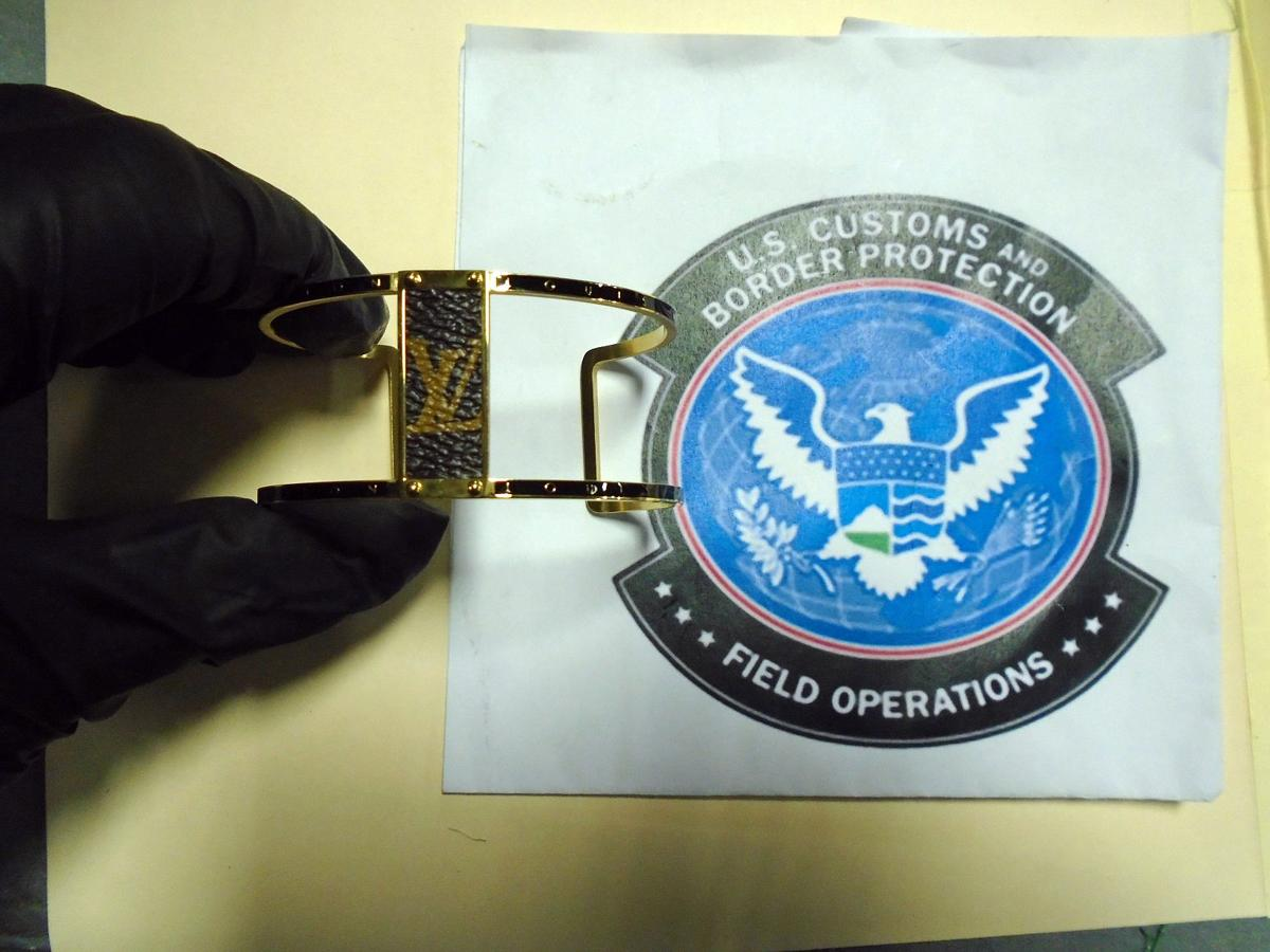Counterfeit bracelet seized by U.S. Customs and Border Protection officials in June 29 shipment