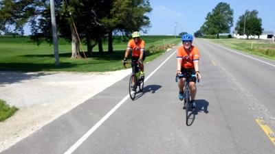 Shelby Co. teacher bikes across country