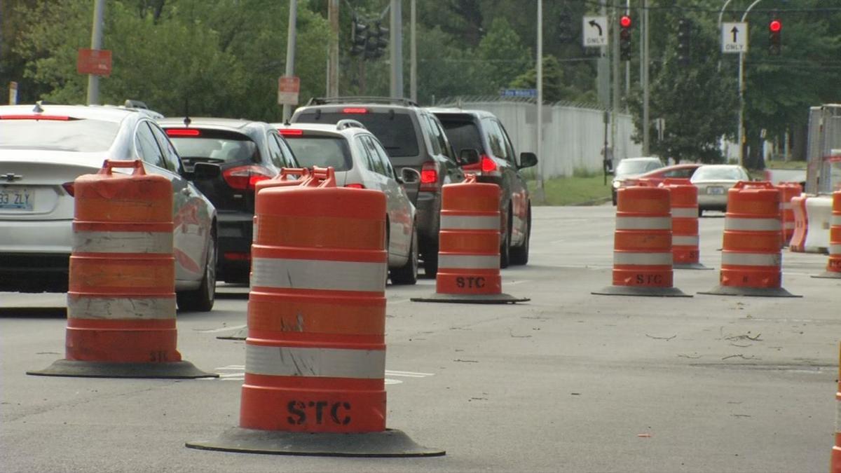 Road repairs in Louisville