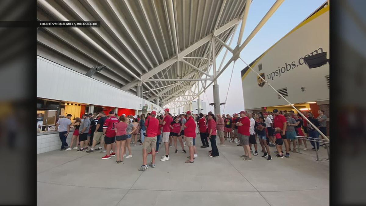 Cardinal Stadium concession crowd