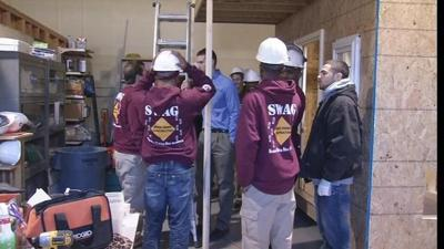 YouthBuild provides playhouses -- and a second chance for young builders