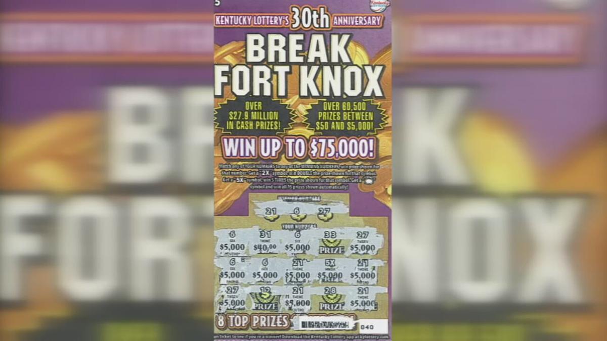 Winning Break Fort Knox scratch-off lottery ticket