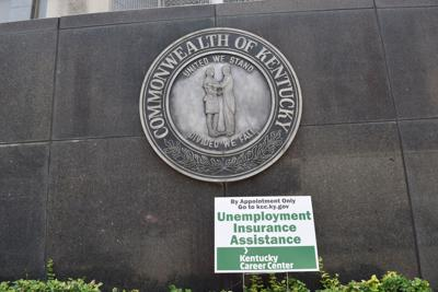 Kentucky unemployment generic sign at office