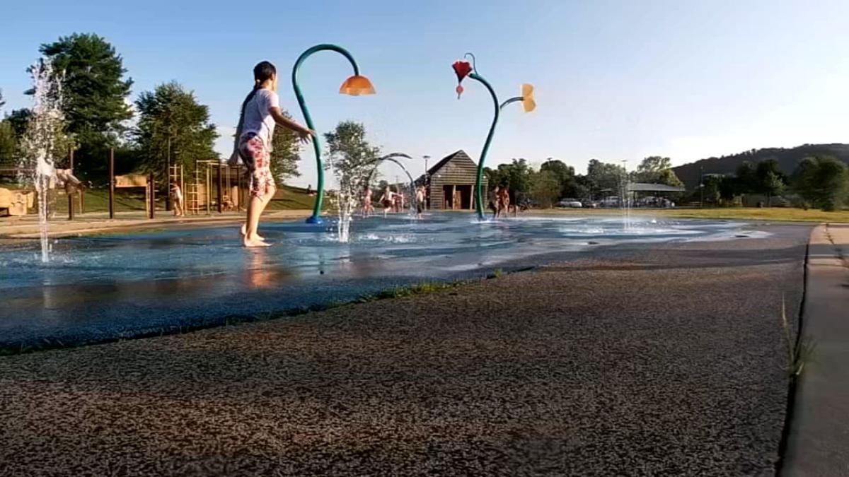 Kids at splash park
