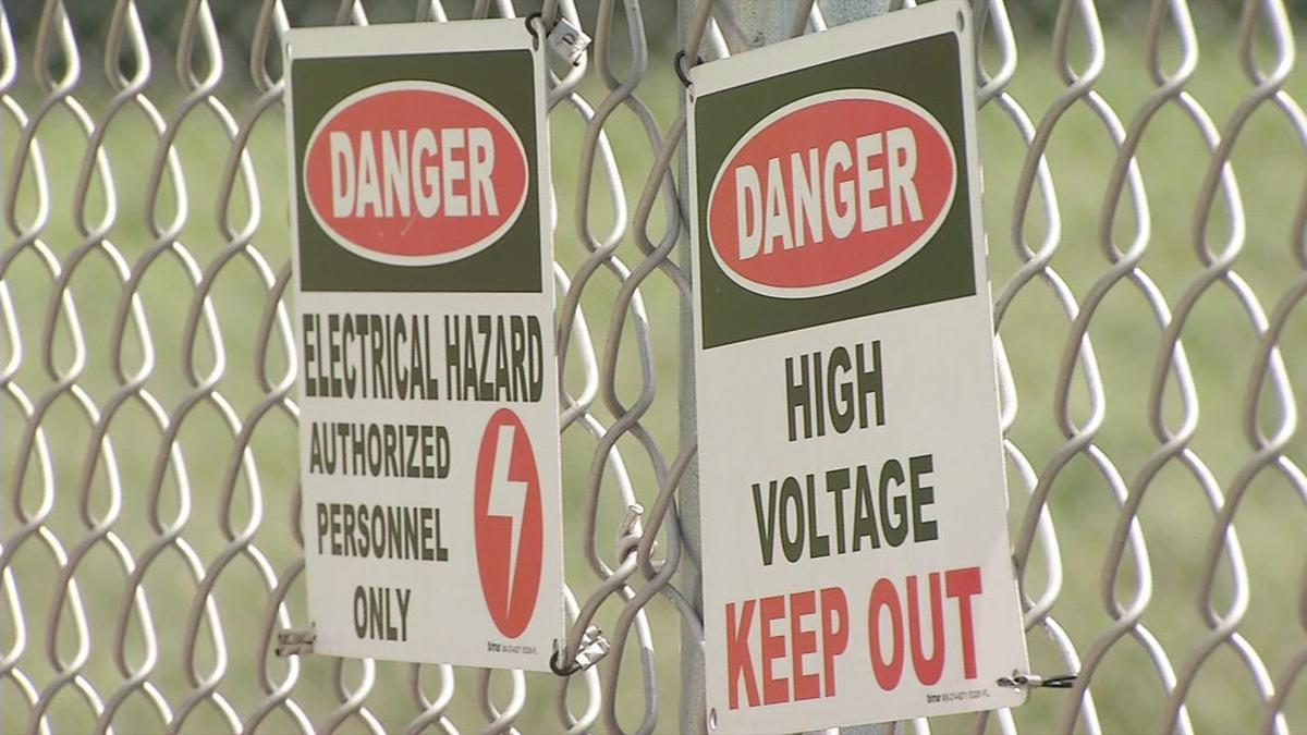 Danger Signs at Henryville Solar Farm
