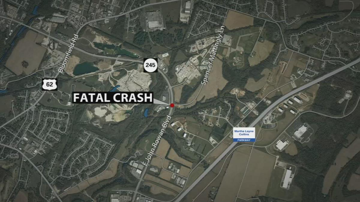 MAP: The location of a fatal crash 5/4/21 in Bardstown, Ky.