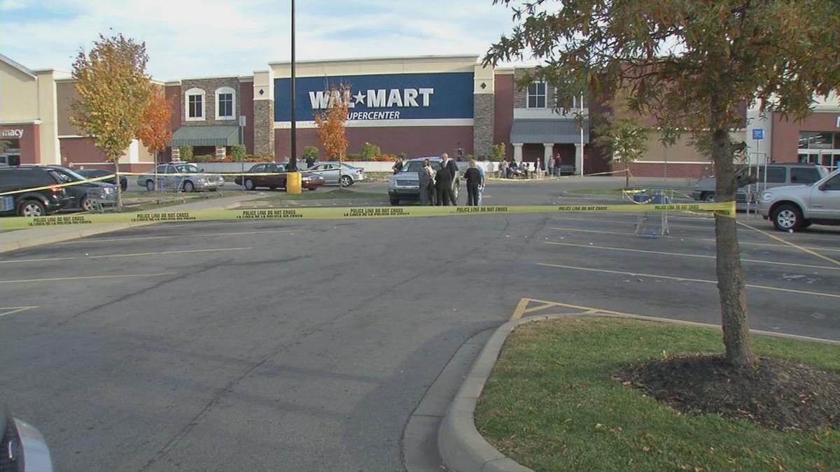 Scene at Walmart after David Whitlock shot suspected shoplifter