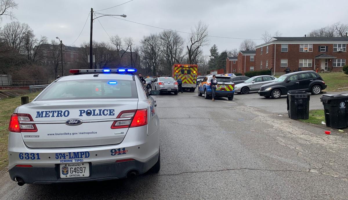 SCENE:  LMPD officer injured on Fincastle Road on Feb. 11, 2020