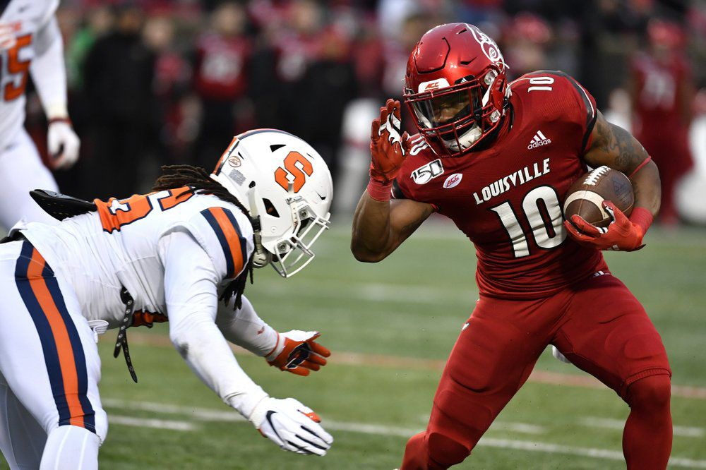 Louisville running back Javian Hawkins