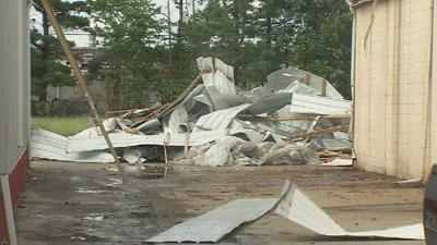Businesses damaged after tornado rolls through Madison, Indiana
