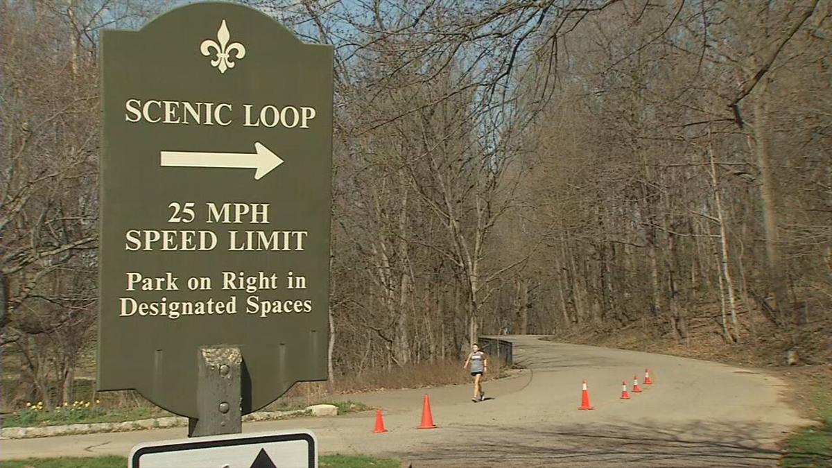 The scenic loop at Cherokee Park in Louisville, Ky.