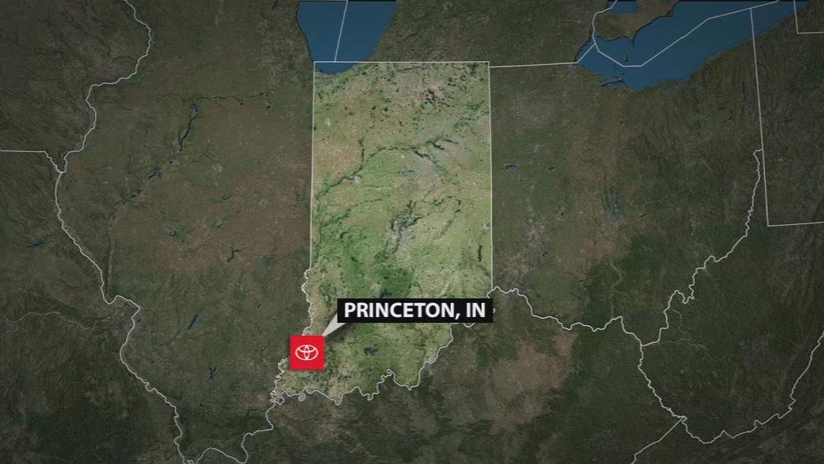 Map of Princeton, Indiana
