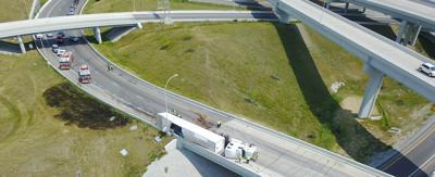 Spaghetti Junction ramp crash