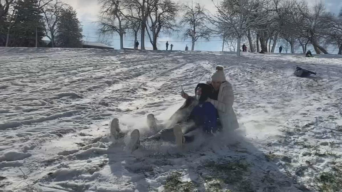 People sledding at a Louisville park (generic)