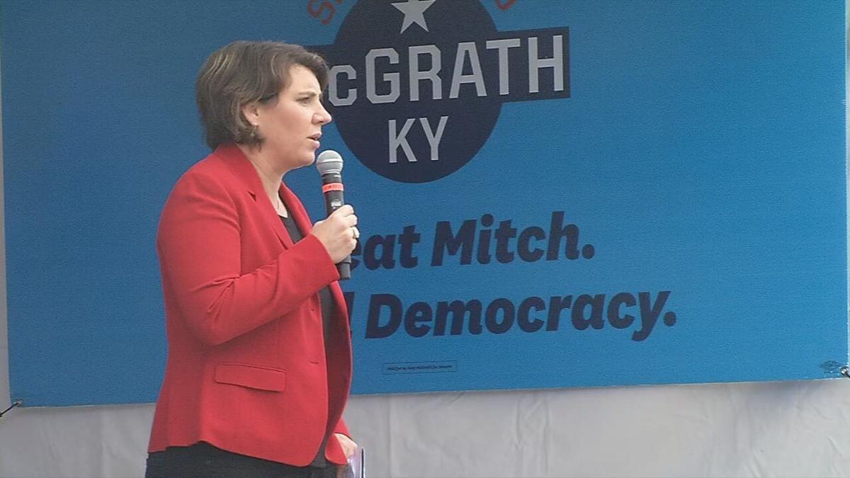 Amy McGrath in Louisville