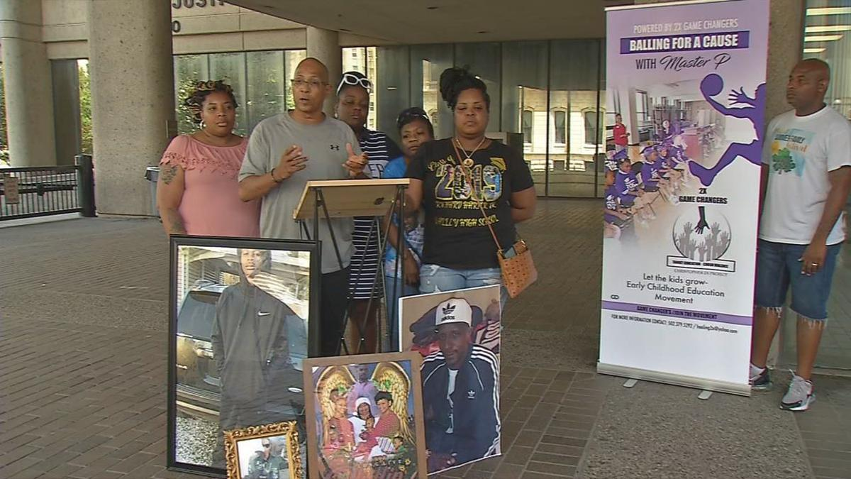 Three mothers, one sister of recent Louisville murder victims make announcement