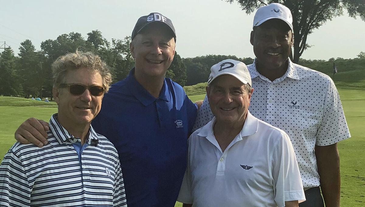 Rand Paul, Terry Meiners, John Yarmuth and Junior Bridgeman at charity golf scramble