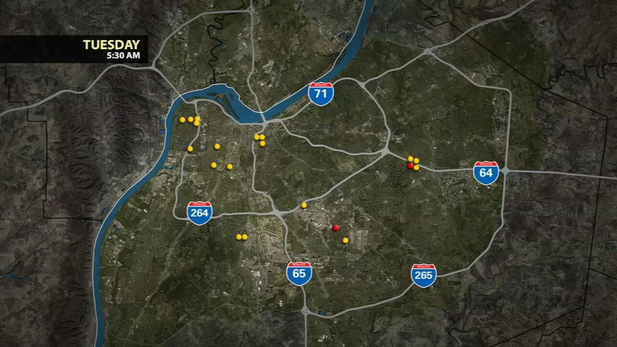 20 people shot in Louisville between Sunday morning and Tuesday morning