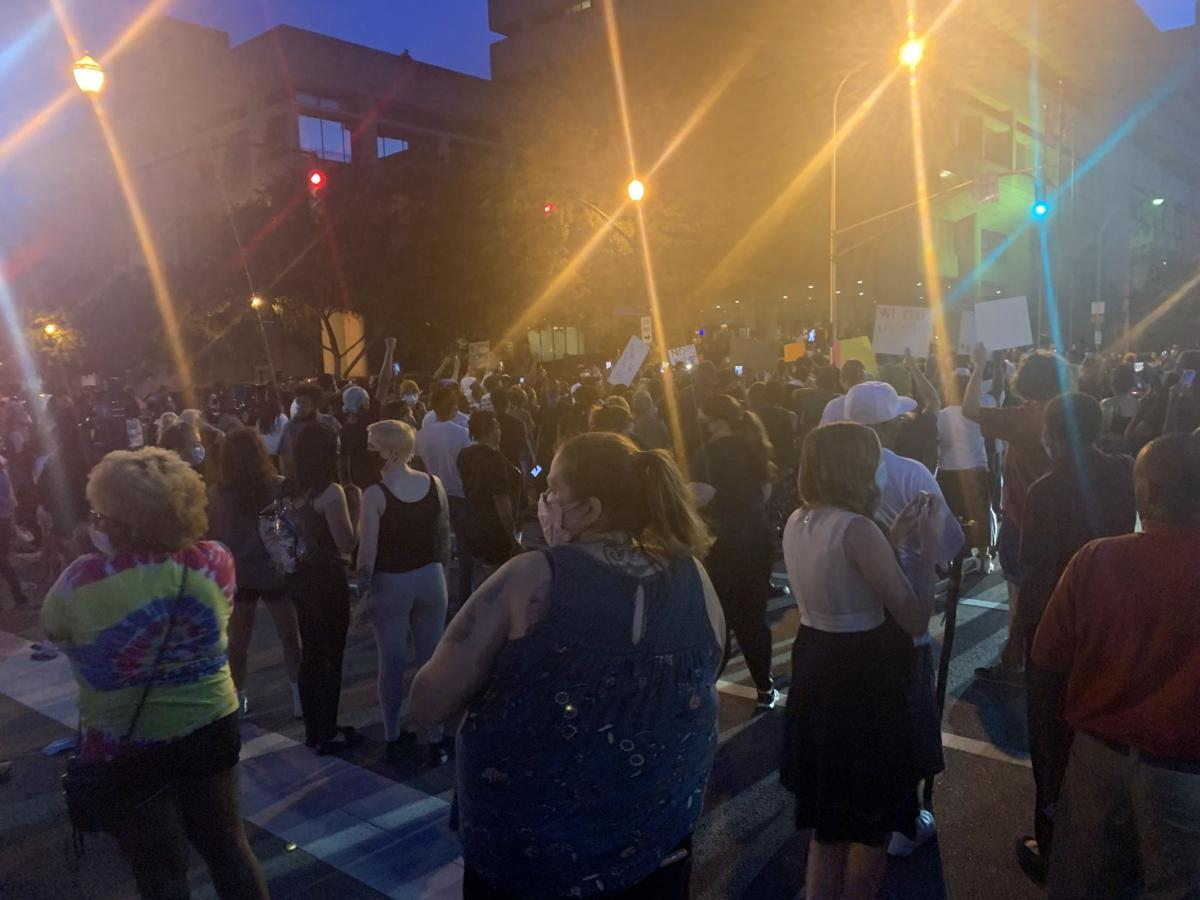 Protesters gather in downtown Louisville demanding justice for Breonna Taylor