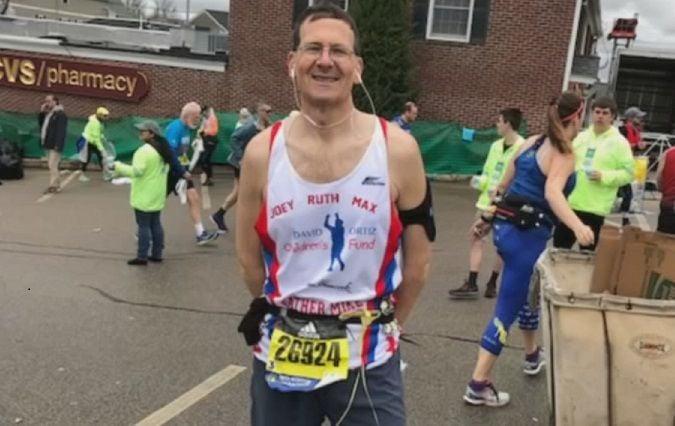 Father Mike Tobin 2019 Boston Marathon