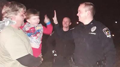 Jeffersontown Police visit 4yo on eve of spinal surgery (1-11-19)