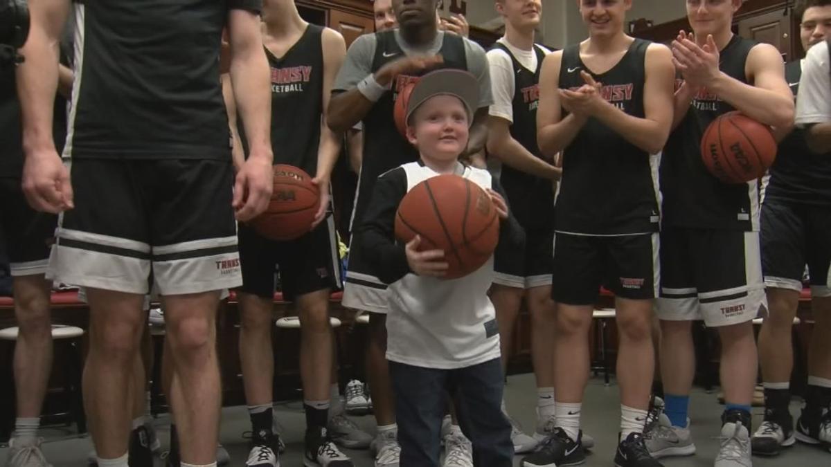 7-year-old Bentley Barber welcomed into Transylvania University men's basketball team