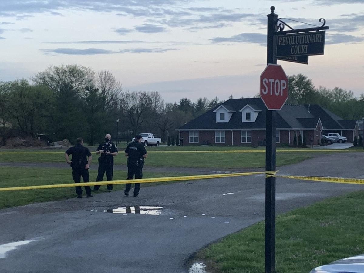 Louisville Metro Police investigate a shooting near Fairdale on 4/7/21