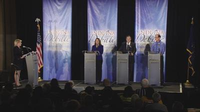 Indiana US Senate candidates face off in 1st debate
