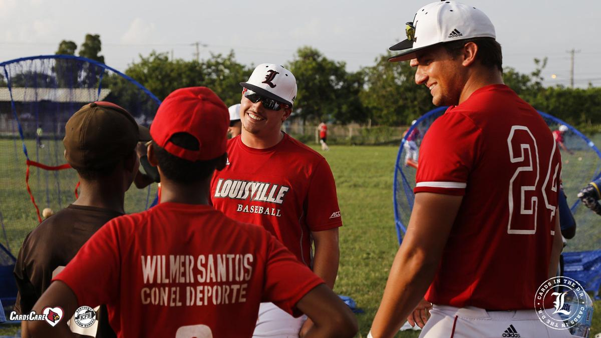 Louisville baseball players teach kids at camp in DR