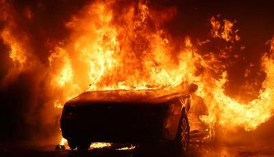 Sept. 14, 2021 fire at Indianapolis auto yard