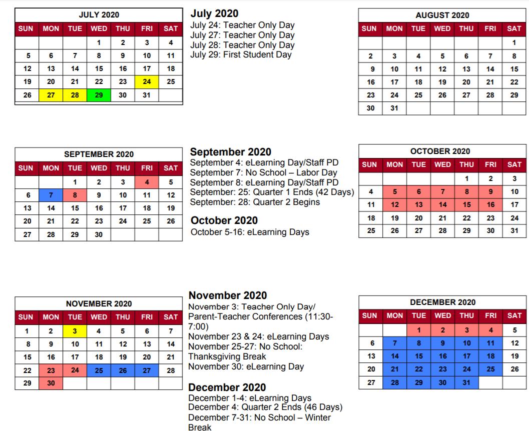 Greater Clark County Schools Calendar 2021-2022 Images