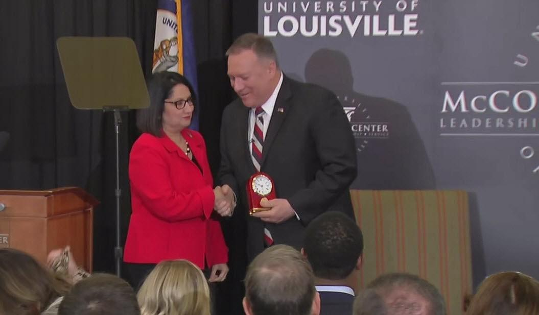 Sec. of State Pompeo talks foreign relations at U of L speech
