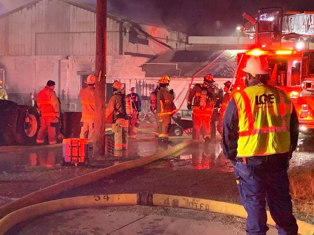S & S Auto Supply fire crews
