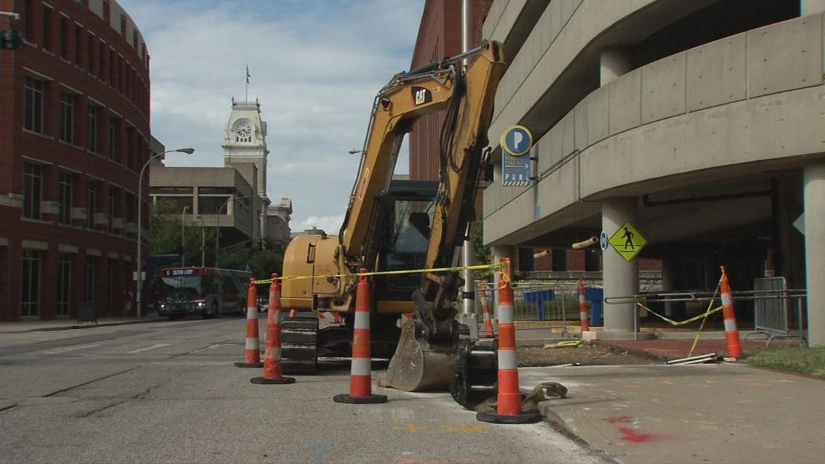 Crews work to repair road in Louisville