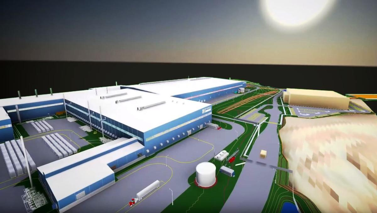Braidy Industries mill rendering