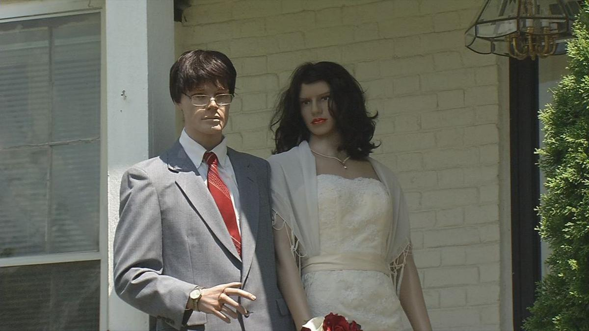 George the Mannequin finally ties the knot