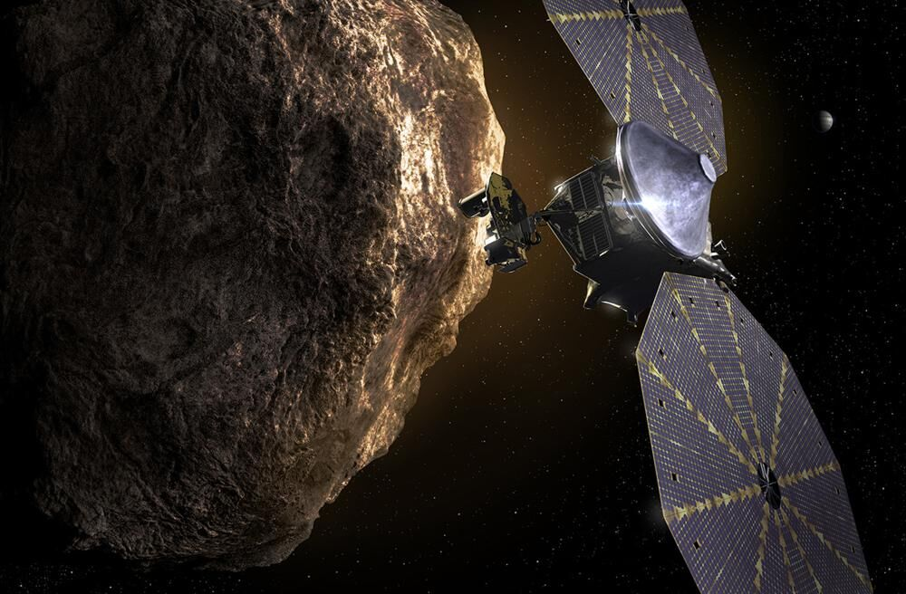 Lucy spacecraft approaches asteroid